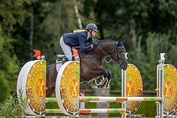Diks Aniek, NED, Limelight AD<br /> Nationaal Kampioenschap KWPN<br /> 4 jarigen springen final<br /> Stal Tops - Valkenswaard 2020<br /> © Hippo Foto - Dirk Caremans<br /> 19/08/2020