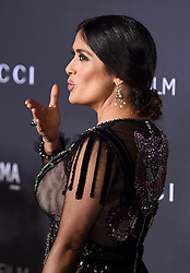 Salma Hayek attends the 2016 LACMA Art + Film Gala honoring Robert Irwin and Kathryn Bigelow presented by Gucci at LACMA on October 29, 2016 in Los Angeles, California. Photo by Lionel Hahn/AbacaUsa.com