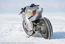Russian custom bike builder Yaroslav Tatarinov's 2008 Kawasaki 1350 GTR 1350cc with incredible hand crafted aluminum body work at the Baikal Mile Ice Speed Festival. Maksimiha, Siberia, Russia. Saturday, February 29, 2020. Photography ©2020 Michael Lichter.
