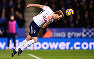 Harry Kane of Tottenham Hotspur  heads the ball towards the goal .Premier league match, Leicester City v Tottenham Hotspur at the King Power Stadium in Leicester, Leicestershire on Tuesday 28th November 2017.<br /> pic by Bradley Collyer, Andrew Orchard sports photography.