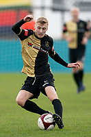 Football - 2020 / 2021 FA Trophy - Round Two - Marine vs Hyde United - Rossett Park<br /> <br /> Marine FC's James Barrigan in action during todays match  <br /> <br /> <br /> <br /> COLORSPORT/TERRY DONNELLY