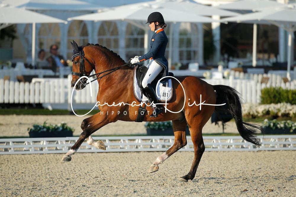 Meulendijks Anne, (NED), MDH Avanti<br /> Grand Prix U25<br /> CDIO Hagen 2015<br /> © Hippo Foto - Stefan Lafrentz