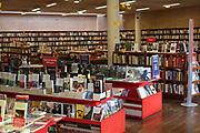 Interior shot of the famous Libraria Central central bookshop, central Bogota, Colombia.