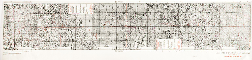 Apollo 11 flight chart, showing flight path and landing sites. Apollo Target of Opportunity flight chart.