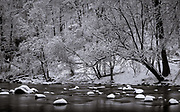 Spring snow on the Patapsco River. #1