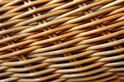 Close up of a woven basket,