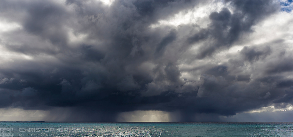 Approaching storm, Grand Turk, British Virgin Islands in the Caribbean.<br /> Picture date: Friday January 22, 2016.<br /> Photograph by Christopher Ison ©<br /> 07544044177<br /> chris@christopherison.com<br /> www.christopherison.com