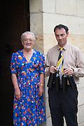 Rose Noelle Borde owner and Denis Pomarede winemaker couvent des jacobins saint emilion bordeaux france
