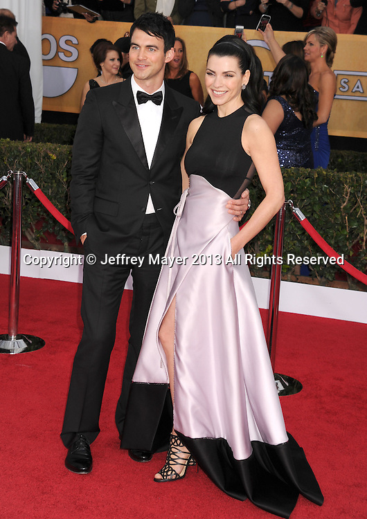 LOS ANGELES, CA - JANUARY 27: Julianna Margulies and Keith Lieberthal arrive at the 19th Annual Screen Actors Guild Awards at the Shrine Auditorium on January 27, 2013 in Los Angeles, California.