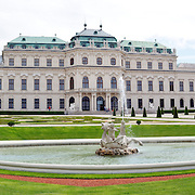 Panorama of the exterior of the Belvedere Palace, Vienna, Austria