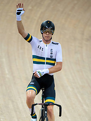 January 26, 2019 - Hong Kong, Hong Kong SAR, China - Mens Omnium IV. Australias Cameron Meyers (pictured) takes gold with New Zealands Campbell Stewart taking Silver and France's Benjamin Thomas takes silver.UCI Track Cycling World Cup Hong Kong 2019, Qualifiers Leg VI at the Hong Kong Velodrome in Tseung Kwan O ,Kowloon (Credit Image: © Jayne Russell/ZUMA Wire)