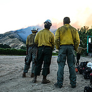 Firefighters battle the Lime fire just outside of Piru, CA that broke out around mid day. Also marking the start of wildfire season in southern California.