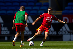 CARDIFF, WALES - Sunday, September 6, 2020: Wales' Daniel James during the pre-match warm-up before the UEFA Nations League Group Stage League B Group 4 match between Wales and Bulgaria at the Cardiff City Stadium. (Pic by David Rawcliffe/Propaganda)
