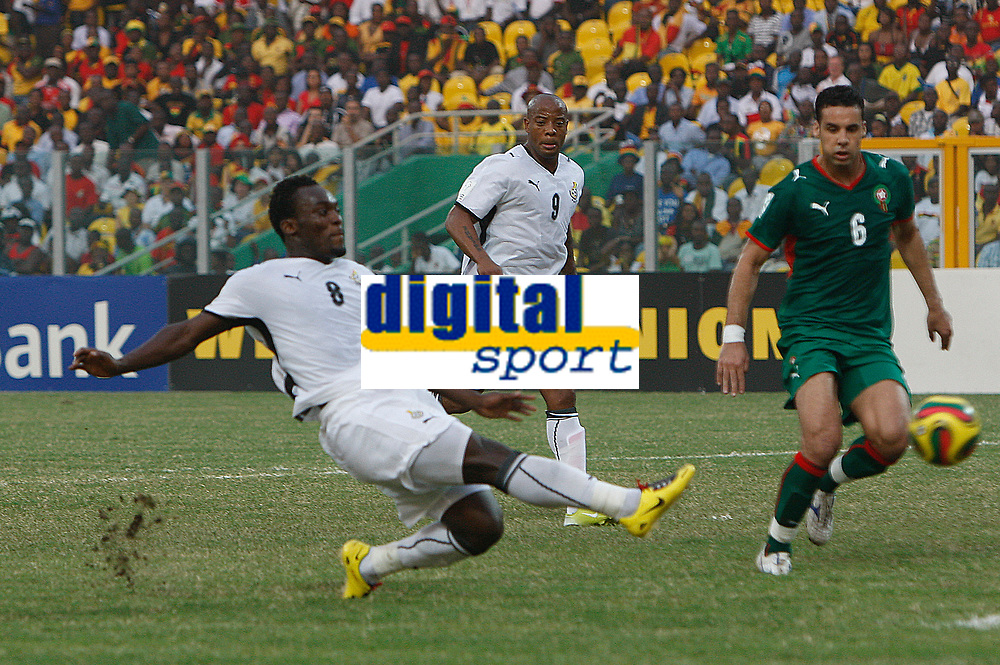 Photo: Steve Bond/Richard Lane Photography.<br />Ghana v Morocco. Africa Cup of Nations. 28/01/2008. Michael Essien scores
