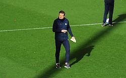 Forest Green Rovers manager Mark Cooper leads the warm up session- Mandatory by-line: Nizaam Jones/JMP - 31/10/2020 - FOOTBALL - Jonny-Rocks Stadium - Cheltenham, England - Cheltenham Town v Forest Green Rovers - Sky Bet League Two