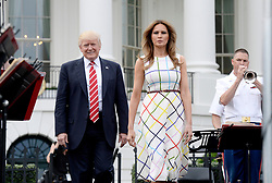 U.S President Donald Trump and First Lady Melania Trump host the Congressional Picnic on the South Lawn of the White House in Washington, DC, on June 22, 2017. Photo by Olivier Douliery/ Abaca