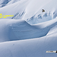 DC shoes global campaign 2010. Travis Rice, shot on Deeper Alaska expedition. Stock image buy-out.