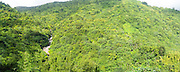 Panoramic view of Rio Sabana and El Yunque National Forest, looking west over the Rio Cubuy, Puerto RIco.