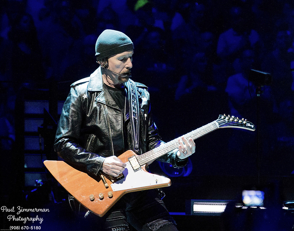 NEWARK, NJ - JUNE 29:  The Edge of U2 performs onstage during the eXPERIENCE + iNNOCENCE TOUR at Prudential Center on June 29, 2018 in Newark, New Jersey.  (Photo by Paul Zimmerman/Getty Images) *** Local Caption *** The Edge