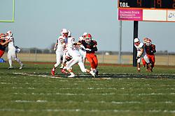 5 November 2016: Lisle Benet Academy Redwings at Normal Community Ironmen - 2nd Round playoffs, IHSA football, Normal Illinois<br /> <br /> #NormalWestFootball #Wildcats #bestlookmagazine #alphoto513 #IHSA #IHSAFootball