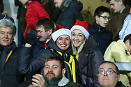 Brewers fans celebrate at the final whistle during the EFL Sky Bet League 1 match between Burton Albion and Wycombe Wanderers at the Pirelli Stadium, Burton upon Trent, England on 26 December 2018.