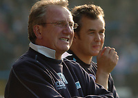 Photo: Ian Hebden.<br />Chesterfield United v Swansea City. Coca Cola League 1. 14/10/2006.<br />Chesterfield Manager Roy McFarland (L) looks on.