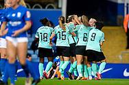 GOAL scores 4-0 Brighton & Hove Albion defender Emma Koivisto (2) scores and celebrates during the FA Women's Super League match between Birmingham City Women and Brighton and Hove Albion Women at St Andrews, Birmingham United Kingdom on 12 September 2021.