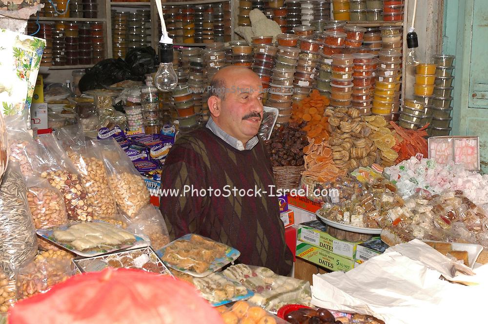 local shop owner in the Market, Old city, Jerusalem, Israel