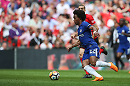 Chelsea midfielder Willian (22) during the The FA Cup match between Chelsea and Southampton at Wembley Stadium, London, England on 22 April 2018. Picture by Toyin Oshodi.