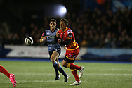 Gavin Henson of the Dragons. Guinness Pro14 rugby match, Cardiff Blues v Dragons at the Cardiff Arms Park in Cardiff, South Wales on Friday 6th October 2017.<br /> pic by Andrew Orchard, Andrew Orchard sports photography.