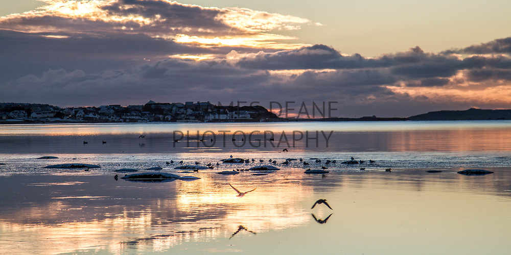 A view across Loch Indaal from Bridgend to Bowmore