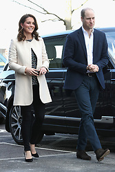 The Duke and Duchess of Cambridge arrive to watch wheelchair basketball during a SportsAid event at the Copper Box in the Olympic Park, London.