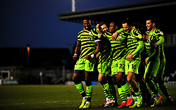 Jamille Matt of Forest Green Rovers scores his second goal of the game 2-0- Mandatory by-line: Nizaam Jones/JMP - 27/02/2021 - FOOTBALL - The innocent New Lawn Stadium - Nailsworth, England - Forest Green Rovers v Colchester United - Sky Bet League Two