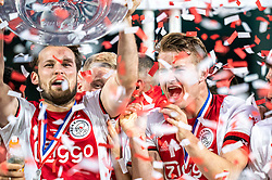 15-05-2019 NED: De Graafschap - Ajax, Doetinchem<br /> Round 34 / It wasn't really exciting anymore, but after the match against De Graafschap (1-4) it is official: Ajax is champion of the Netherlands / Daley Blind #17 of Ajax, Matthijs de Ligt #4 of Ajax, Donny van de Beek #6 of Ajax