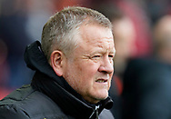 Chris Wilder manager of Sheffield Utdduring the Premier League match at Bramall Lane, Sheffield. Picture date: 9th February 2020. Picture credit should read: Simon Bellis/Sportimage