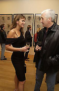 Fernanda Pollock and Perry Digread, Matthew Carr exhibition opening, Marlborough Fine Art, 25 November 2003. © Copyright Photograph by Dafydd Jones 66 Stockwell Park Rd. London SW9 0DA Tel 020 7733 0108 www.dafjones.com