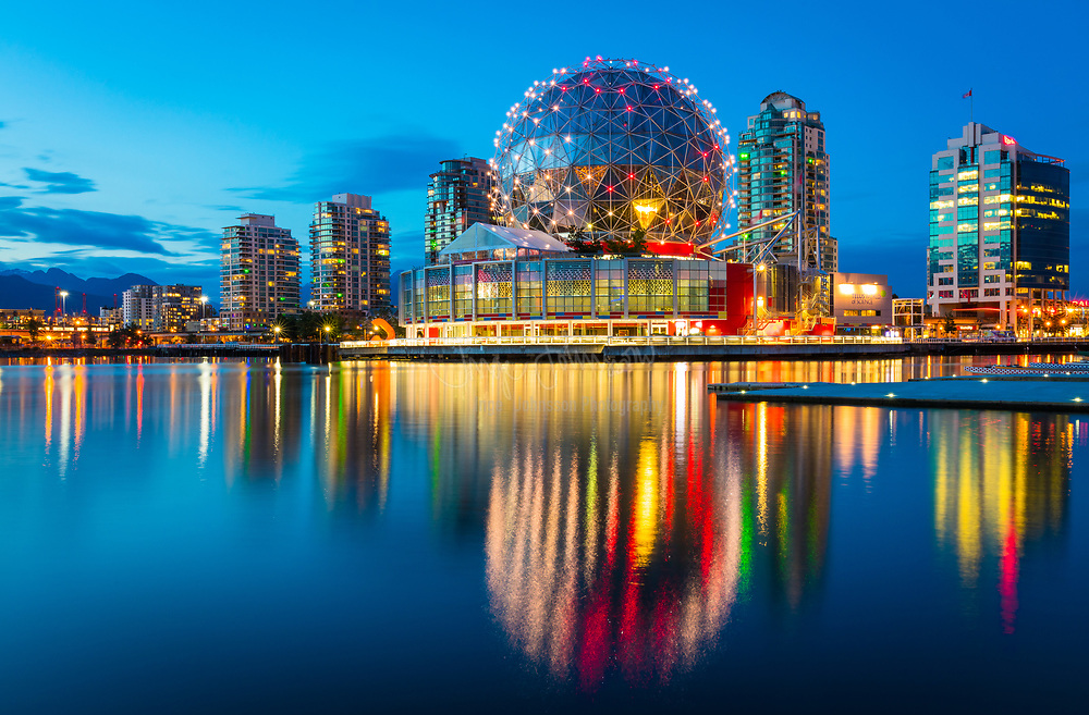 """Science World at Telus World of Science, Vancouver is a science centre run by a not-for-profit organization in Vancouver, British Columbia, Canada. It is located at the end of False Creek, and features many permanent interactive exhibits and displays, as well as areas with varying topics throughout the years.<br /> <br /> The building's former name, Science World, is still the name of the organization. The building's name change to the Telus World of Science became official on July 20, 2005 following a $9-million donation to the museum from Telus. The official name of the science centre was subsequently changed to """"Telus World of Science"""", although it is still routinely referred to as """"Science World"""" by the public. Prior to the building being handed over to Science World by the City, it was referred to as Expo Centre during Expo 86. When Science World is operating in of the dome, it is referred to as Science World at Telus World of Science, and when it is out in the community it is simply Science World."""