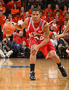 NC State's Julius Mays_Virginia held North Carolina State scoreless for more than 7 minutes on the way to a 59-47 victory Wednesday night at the John Paul Jones Arena in Charlottesville, VA. Virginia (14-6, 5-2 Atlantic Coast Conference) regained a share of first place in the conference. (Photo/Andrew Shurtleff)....