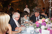 TANIA BRYER; CHRISTOPHER BIGGINS; JOAN COLLINS; RORY BREMMER, The Cartier Chelsea Flower show dinner. Hurlingham club, London. 20 May 2013.