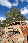 Rusting truck chassis