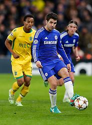Cesc Fabregas of Chelsea passes back - Photo mandatory by-line: Rogan Thomson/JMP - 07966 386802 - 10/12/2014 - SPORT - FOOTBALL - London, England - Stamford Bridge - Sporting Clube de Portugal - UEFA Champions League Group G.