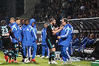 Joie Marseille - Andre Pierre GIGNAC / Marcelo BIELSA - 01.05.2015 - Metz / Marseille - 35e journee Ligue 1<br />Photo : Fred Marvaux / Icon Sport