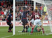 Photo: Kevin Poolman.<br />Northampton Town v Nottingham Forest. Coca Cola League 1. 12/08/2006. <br />Forest's Grant Holt (C) scores a disallowed goal.