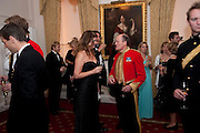 ALEXA JAGO; BRIGADIER SIMON ALLEN, Charity Dinner in aid of Caring for Courage The Royal Scots Dragoon Guards Afganistan Welfare Appeal. In the presence of the Duke of Kent. The Royal Hospital, Chaelsea. London. 20 October 2011. <br /> <br />  , -DO NOT ARCHIVE-© Copyright Photograph by Dafydd Jones. 248 Clapham Rd. London SW9 0PZ. Tel 0207 820 0771. www.dafjones.com.