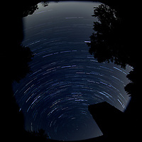 First day of autumn. Nighttime sky over New Jersey. Composite of images (00:30-01:29) taken with a Nikon D850 camera and 10.5 mm f/2.8 macro lens (ISO 100, 10.5 mm, f/2.8, 30 sec).