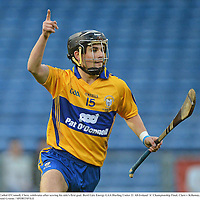 15 September 2012; Cathal O'Connell, Clare, celebrates after scoring his side's first goal. Bord Gáis Energy GAA Hurling Under 21 All-Ireland 'A' Championship Final, Clare v Kilkenny, Semple Stadium, Thurles, Co. Tipperary. Picture credit: Diarmuid Greene / SPORTSFILE