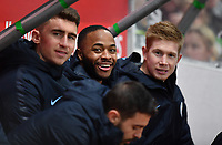Football - 2018 / 2019 Emirates FA Cup - Fifth Round: Newport County vs. Manchester City<br /> <br /> Manchester City's Raheem Sterling amongst a strong set of substitutes, at Rodney Parade.<br /> <br /> COLORSPORT/ASHLEY WESTERN