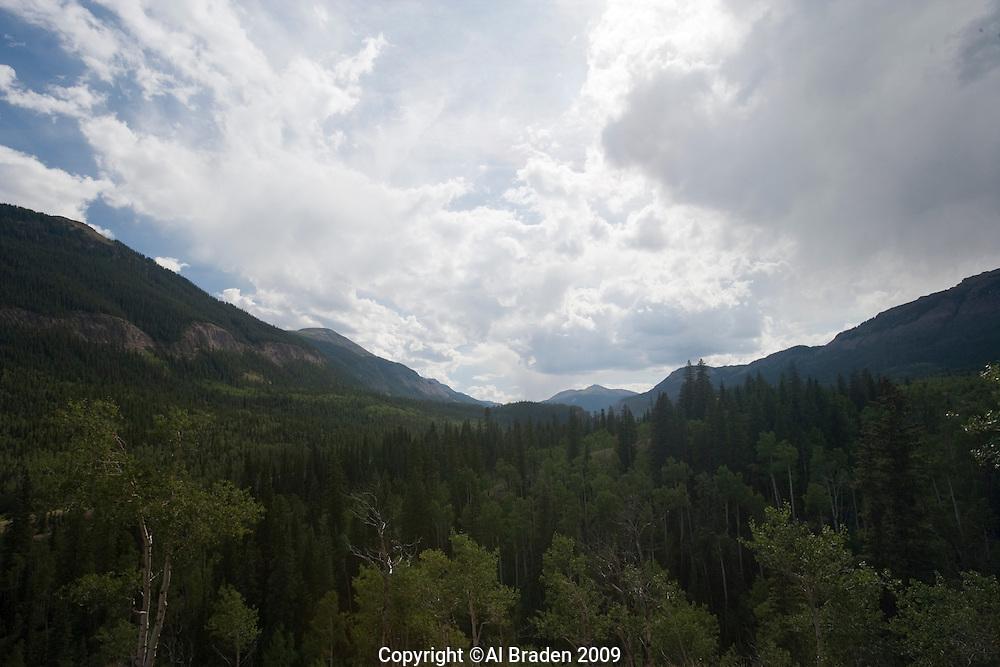 Rio Grande headwaters valley, Rio Grande National Forest, Colorado.