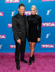 August 21, 2018 - New York City, New York, USA - 8/20/18.Michael Mizanin and Maryse Mizanin at the 2018 MTV Video Music Awards at Radio City Music Hall in New York City. (Credit Image: © Starmax/Newscom via ZUMA Press)