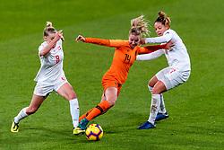 09-11-2018 NED: UEFA WC play-off final Netherlands - Switzerland, Utrecht<br /> European qualifying for the 2019 FIFA Women's World Cup - / Jacky Groenen #14 of Netherlands, Rachel Tschopp #8 of Switzerland